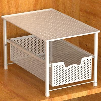 Simple Houseware Stackable Sliding Basket Organizer