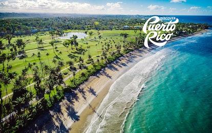 Beach background for Zoom: Dorado Beach in Puerto Rico