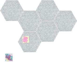 Tikea Hexagon Felt Board (6-Pieces)