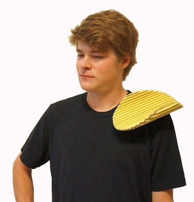 This chip on your shoulder Halloween costume accessory is one funny costume idea for men.