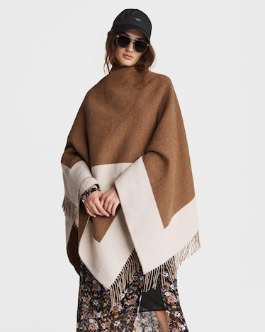 Highlands Reversible Wool Poncho