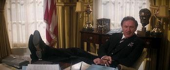 Gene Hackman plays Lex Luther in Superman II.