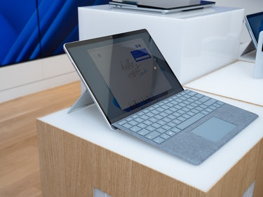 The Surface Pro 8 has a larger 13-inch touchscreen and slimmer bezels.