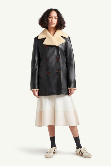 Florence Leather & Shearling Coat