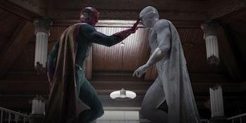 Vision vs. evil Vision in WandaVision.