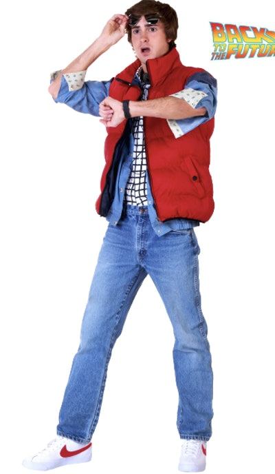Man wearing a Marty McFly costume