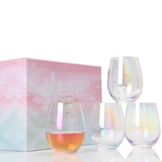 BEEADOYA Wine Glasses (Set of 4)