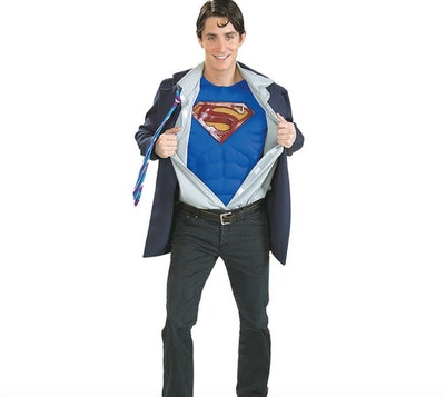 Man wearing Superman costume