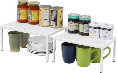 SimpleHouseware Expandable Stackable Kitchen Cabinet  (Set of 2)