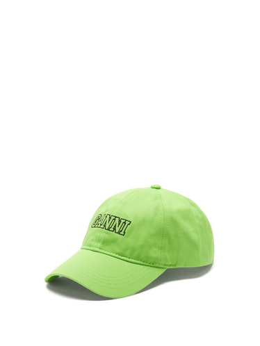 Logo-Embroidered Organic-Cotton Baseball Cap Ganni