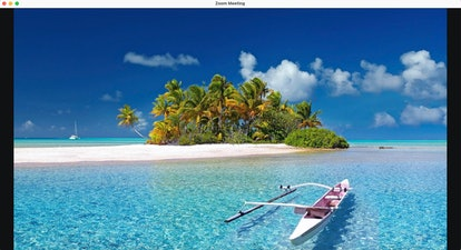 This beach Zoom background will transport you to French Polynesia.