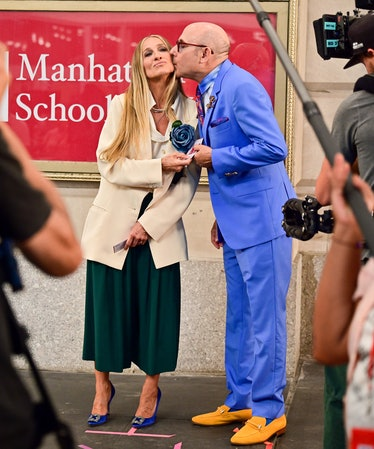 Sarah Jessica Parker and Willie Garson on the set of And Just Like That...
