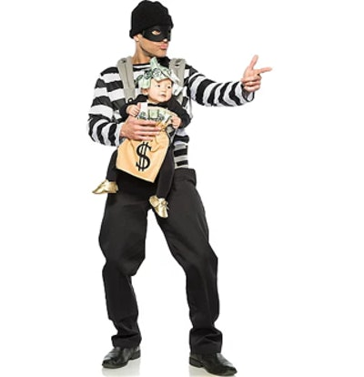 Robber & Moneybag Baby & Me Costume