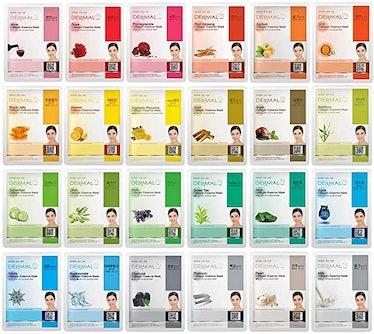 DERMAL Sheet Mask Set (24-Pack)