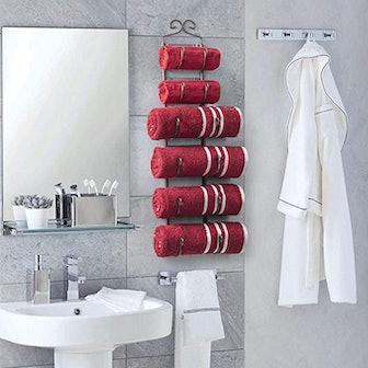 Sagler Towel Rack and Wine Rack