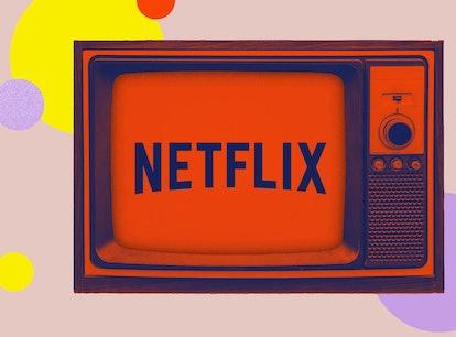 Netflix logo on a TV