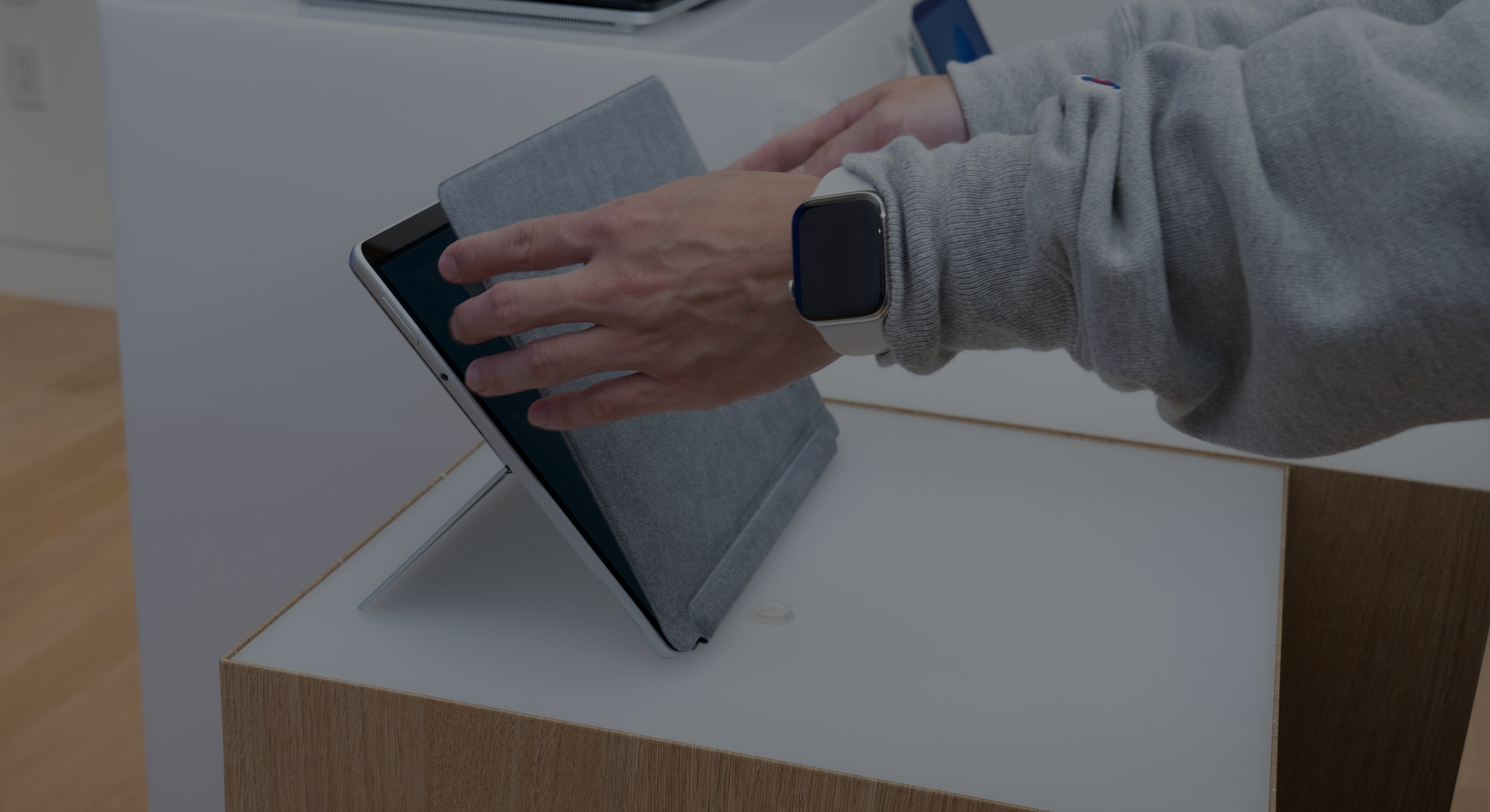 An image of the Microsoft Surface Pro 8 tablet