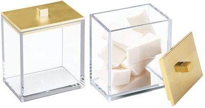 mDesign Storage Organizer Canister Jar (2-Pack)