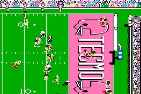 A screenshot of 'Tecmo Bowl'