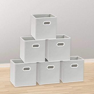 SimpleHouseware Foldable Cube Storage Bin (6-Pack)