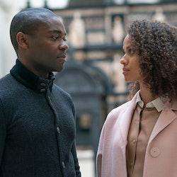 Edward (DAVID OYELOWO), Jane (GUGU MBATHA-RAW) in 'The Girl Before'