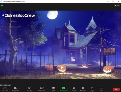 These Halloween Zoom backgrounds include a creepy haunted house.