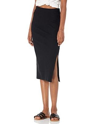 The Drop High Waist Slit Skirt