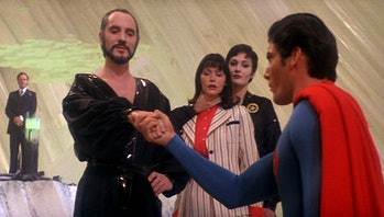 General Zod (Terence Stamp) takes Lois Lane hostage to get back at Superman.