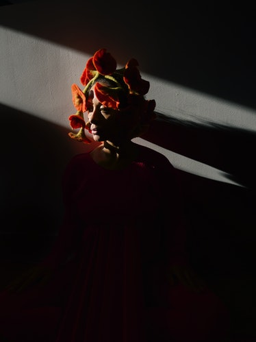 Woman in shadow.