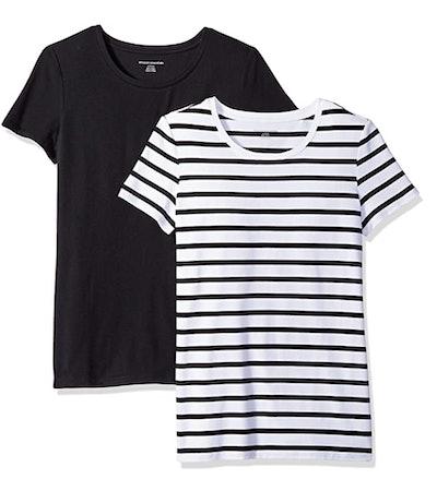 Amazon Essentials Women's Crewneck T-Shirt (2-Pack)