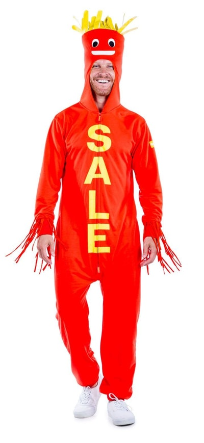 This air dancer onesie is one funny Halloween costume choice for men.