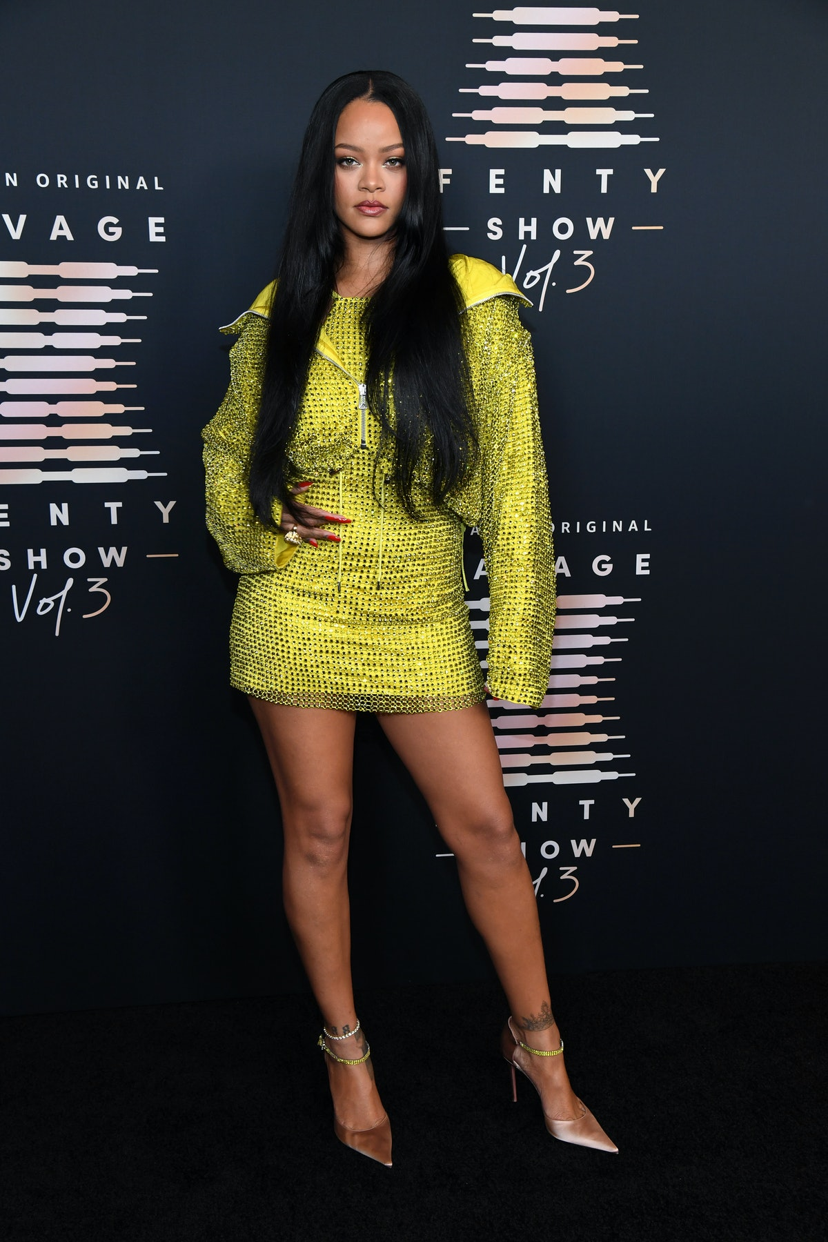 Rihanna attends Rihanna's Savage X Fenty Show Vol. 3 presented by Amazon Prime Video at The Westin B...