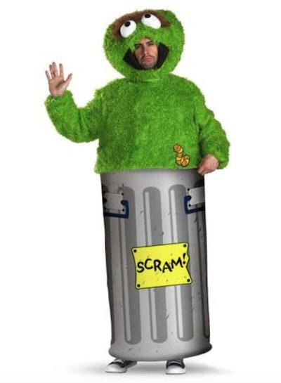 Man dressed as Oscar the Grouch