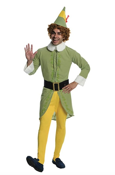 Buddy the Elf is one funny Halloween costume idea for men.