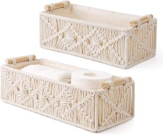 Mkono Macrame Baskets (Set of 2)