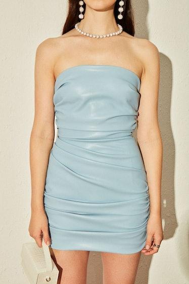 Baby blue strapless dress from Nana Jacqueline.