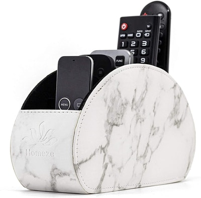 Homeze Leather Remote Control Holder