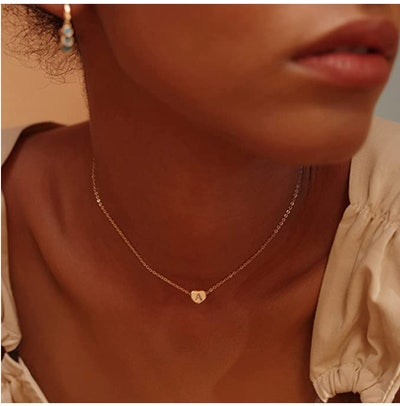 Fettero Gold Initial Heart Necklace