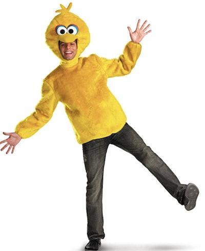 Man dressed in a Big Bird costume