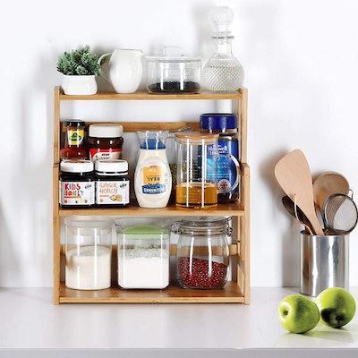 Bamboo Spice Storage Shelves