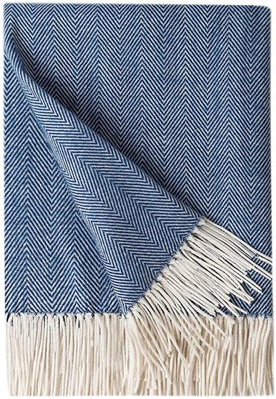BOURINA Faux Cashmere Throw Blanket