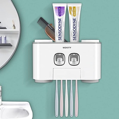 Wekity Multi-Functional Toothbrush and Toothpaste Dispenser