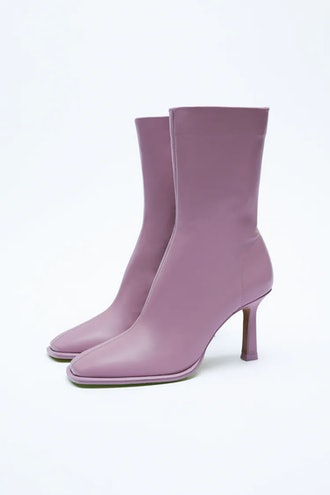 Leather Ankle Boots Zara