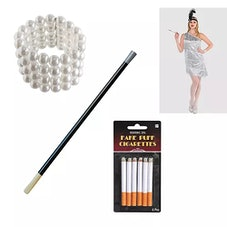 Womens 20s Flapper Accessory Kit