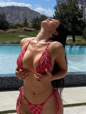 Kylie Jenner wearing a Memorial Day set