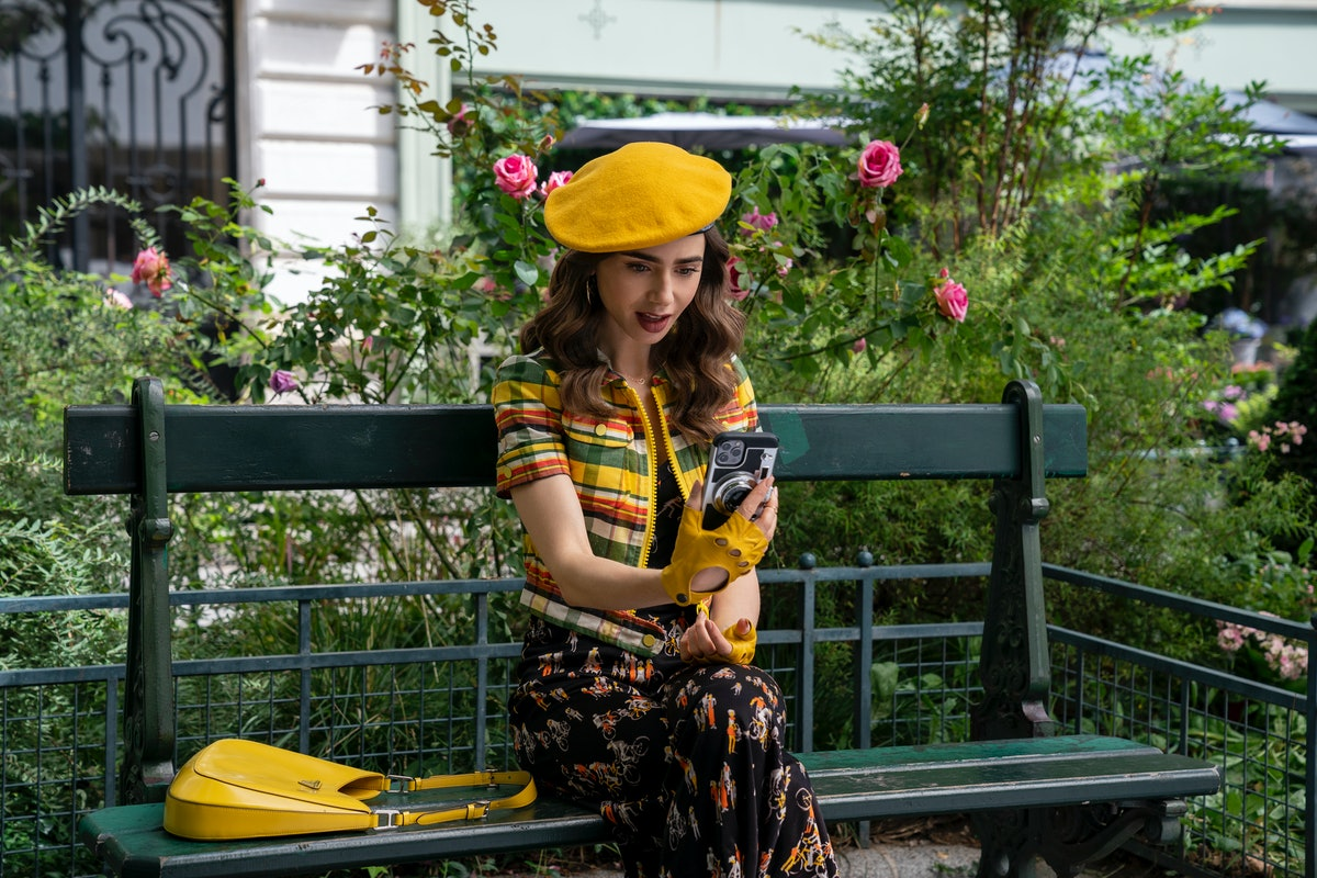 Lily Collins as Emily Cooper in Emily In Paris Season 2