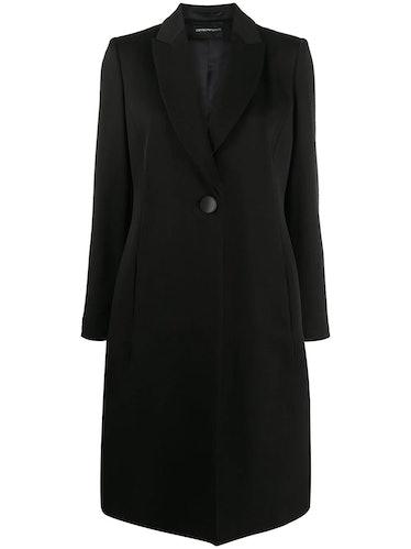 Emporio Armani's wool coat.