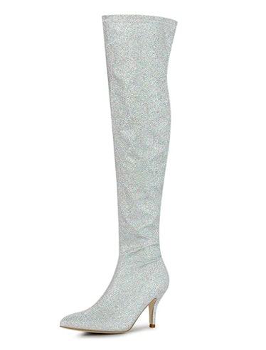 Glitter Pointed Toe Stiletto Heel