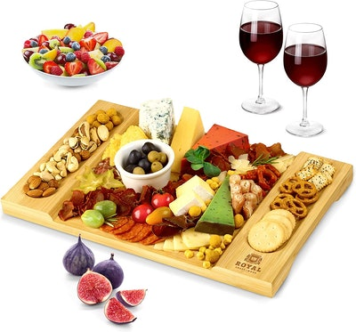 ROYAL CRAFT WOOD Unique Bamboo Charcuterie Platter