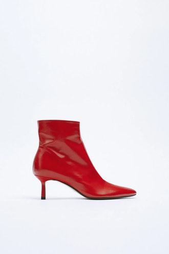 High-Heel Leather Ankle Boot Zara